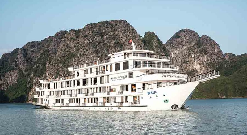Five-Star President Cruises Sets Sail in Halong Bay, Vietnam 1