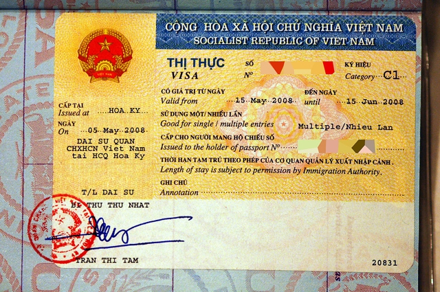 Instructions to get a visa to vietnam