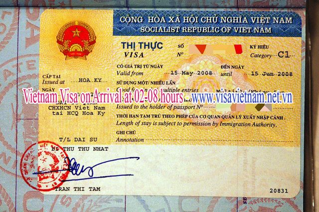 Get Landing Visa In Vietnam at 2 hours